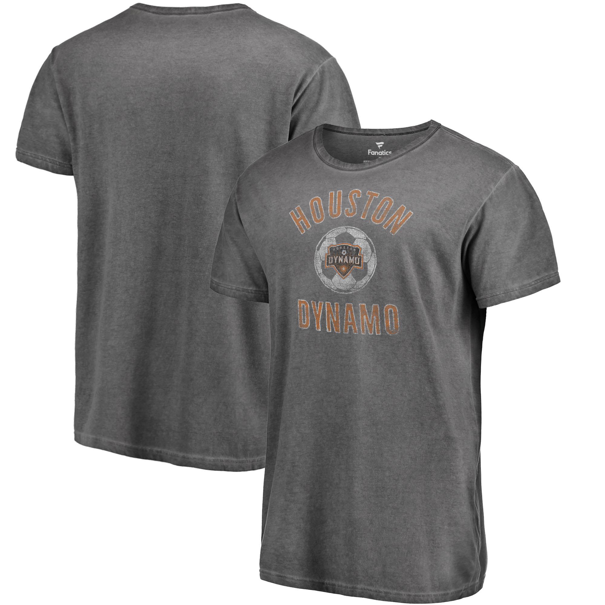 Houston Dynamo Fanatics Branded Black Shadow Washed Icon T-Shirt