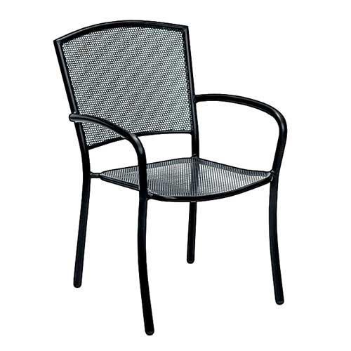 Woodard Albion Quick Ship Stackable Dining Arm Chair Set Of 2 Walmart Com Walmart Com