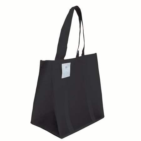f5556b3889dd Grocery Tote bag, Large & Super Strong, Heavy Duty Shopping Bags with  Stand-up PL Bottom, Non-Woven Convention Reusable Tote Bags(Set of 3, Black)
