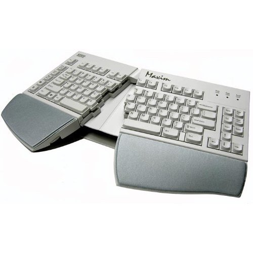 Kinesis Corporation Kb210usb The Kinesis Maxim Adjustable Split Keyboard Offers Up To 30 Degrees Of Variable