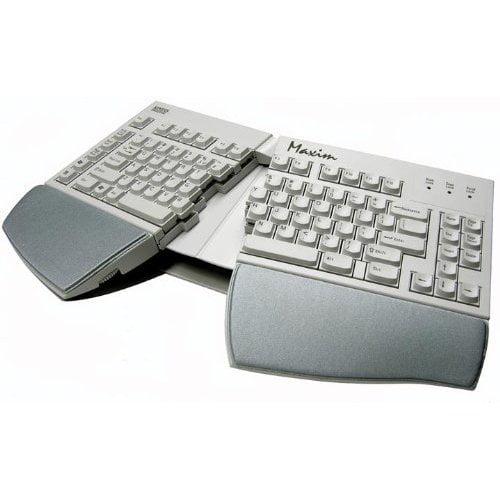 Kinesis Corporation Kb210usb The Kinesis Maxim Adjustable Split Keyboard Offers Up To 30 Degrees Of Variable