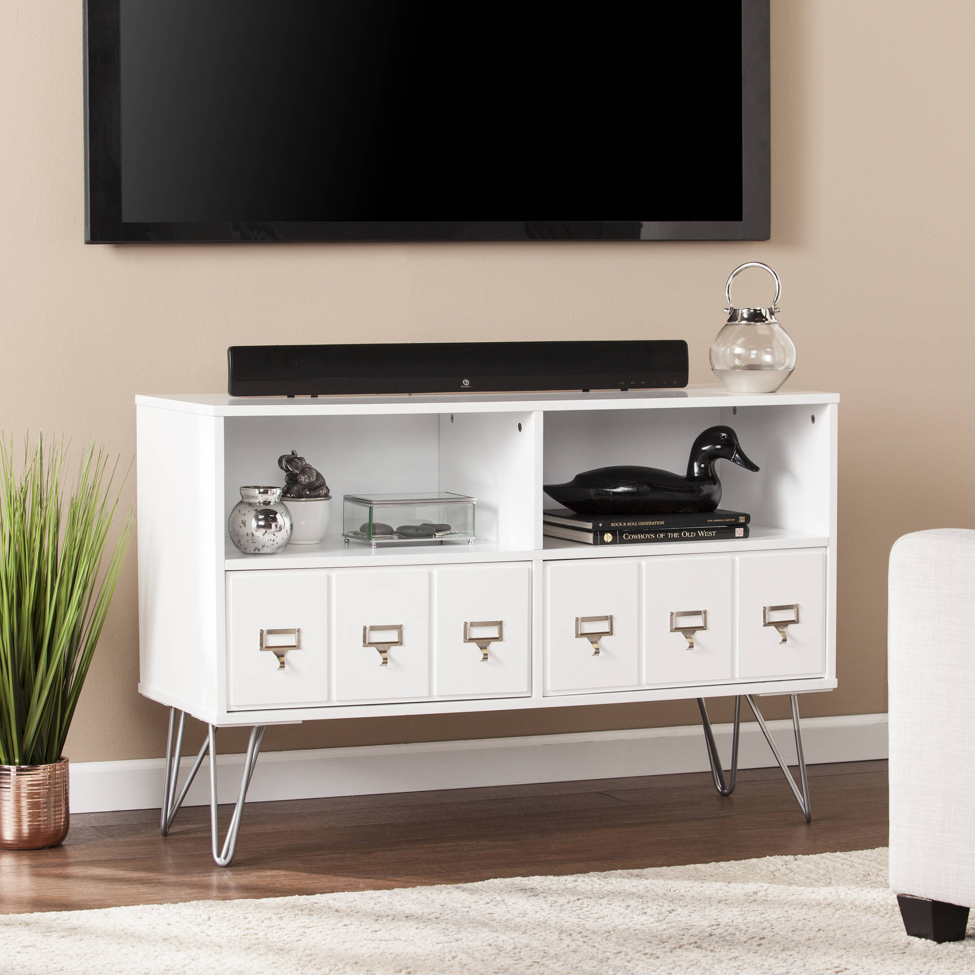 Southern Enterprises Blandenship MidCentury TV Stand for TVs up to 40""