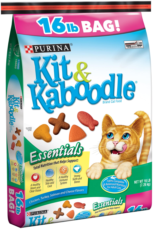Purina Kit & Kaboodle Essentials Dry Cat Food, 16 lb - Walmart.com