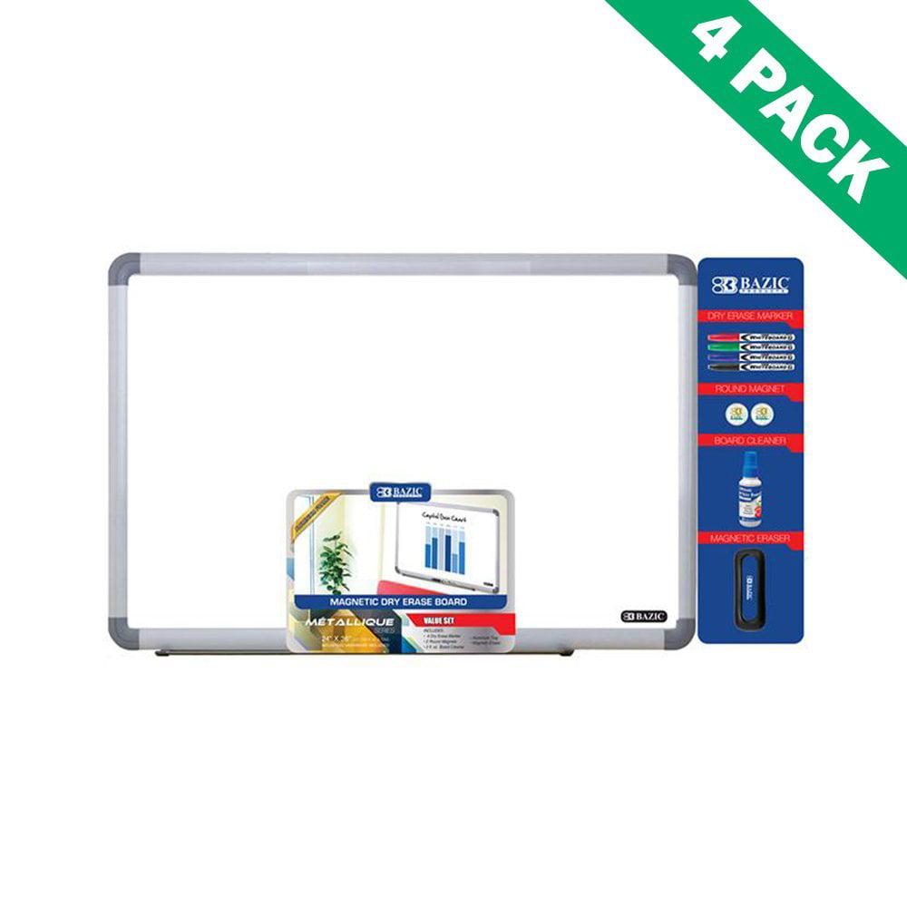 Dry-erase Board Framed Wall Mount 24 X 36 Magnetic Dry Erase Board Pack Set Of 4