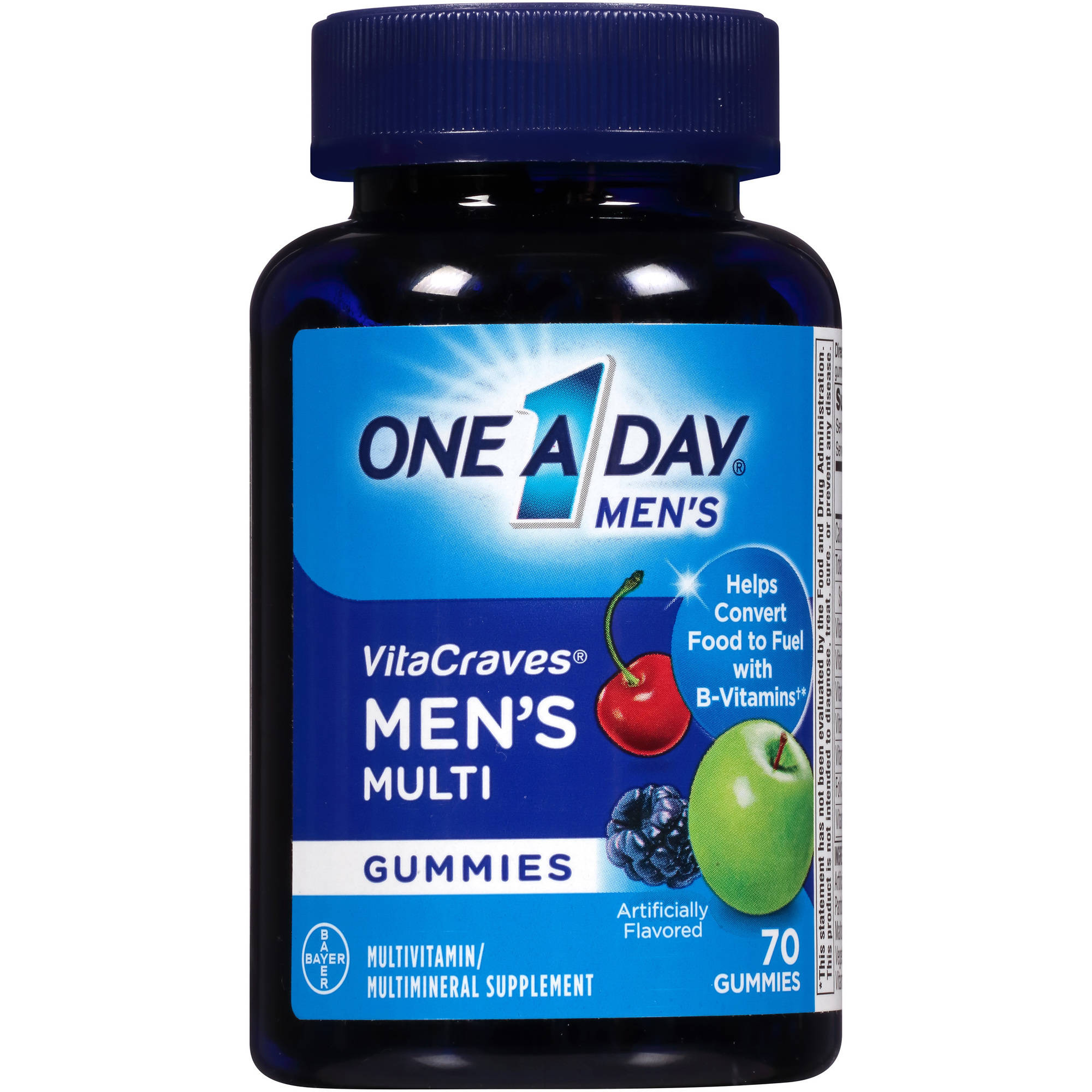 One a Day Men's VitaCraves Men's Gummies Multivitamin/Multimineral Supplement, 70 count