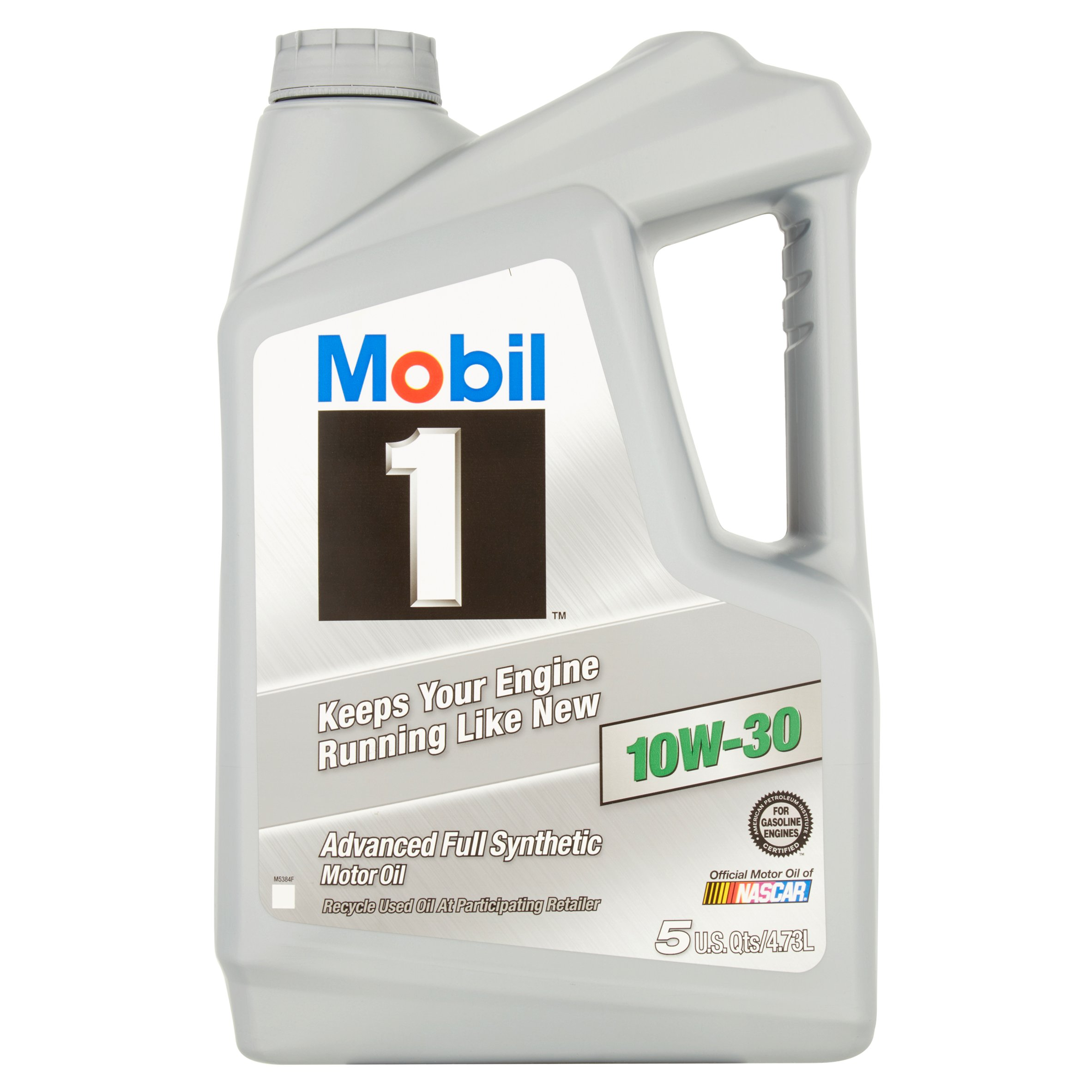 Mobil 1 10W-30 Advanced Full Synthetic Motor Oil, 5 qts