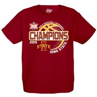 Iowa State Cyclones Blue 84 Youth 2019 Big 12 Men's Basketball Conference Tournament Champions Locker Room T-Shirt -