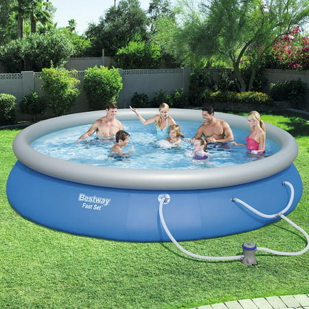 Bestway Fast Set Swimming Pool Set with 530 GPH Filter Pump, 15' x