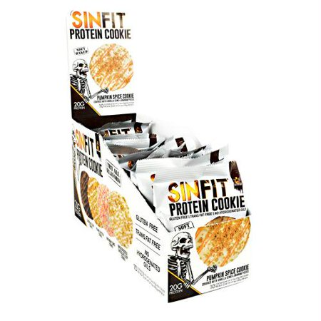 Sinister Labs Sinfit Cookie Pumpkin Spice - Gluten Free - Halloween Pumpkin Face Cookies
