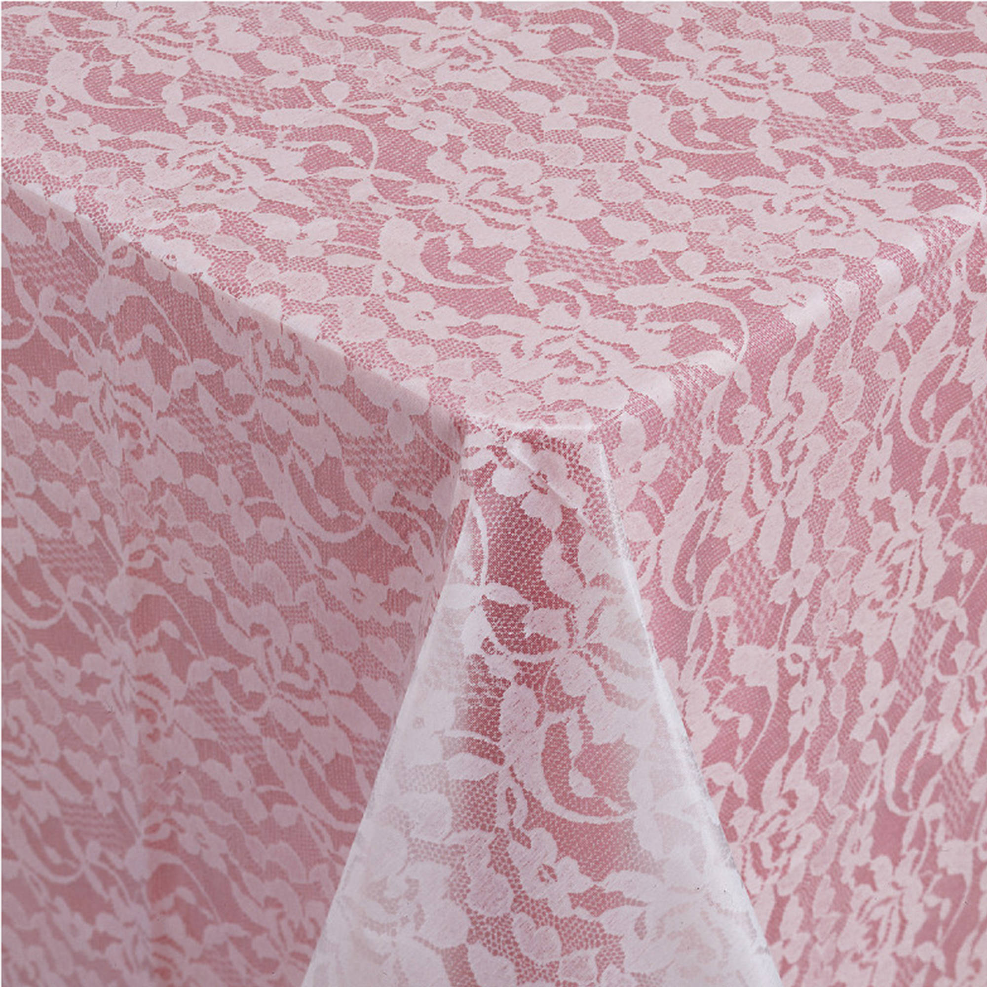 Lace Look White Table Cover