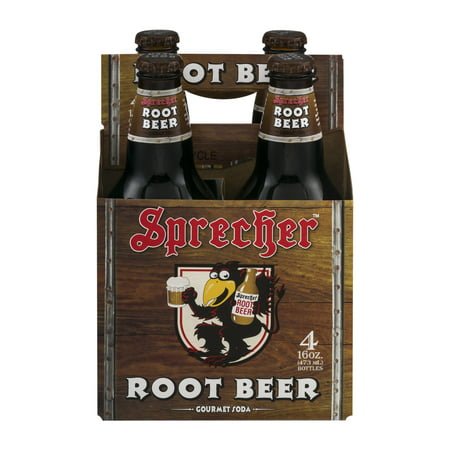 Vanilla Root Beer (Sprecher Gluten-Free Root Beer Gourmet Soda, 16 Fl. Oz., 4 Count)