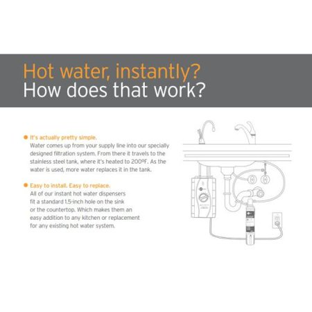InSinkErator Involve H-Wave-SS Single Handle Hot Water Dispenser