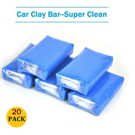 20pcs/Lot Clay Bar Kit Blue Magic Car Truck Clean Clay Bar Auto Detailing  Cleaner Car Washer Magic Cleaning Tool