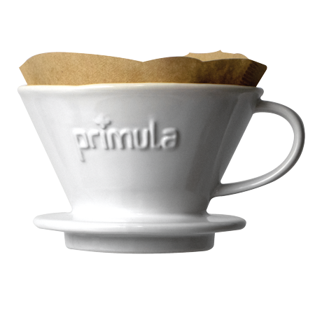 Primula Madison Ceramic Pour Over Coffee Dripper with Filters - 1 Cup, White