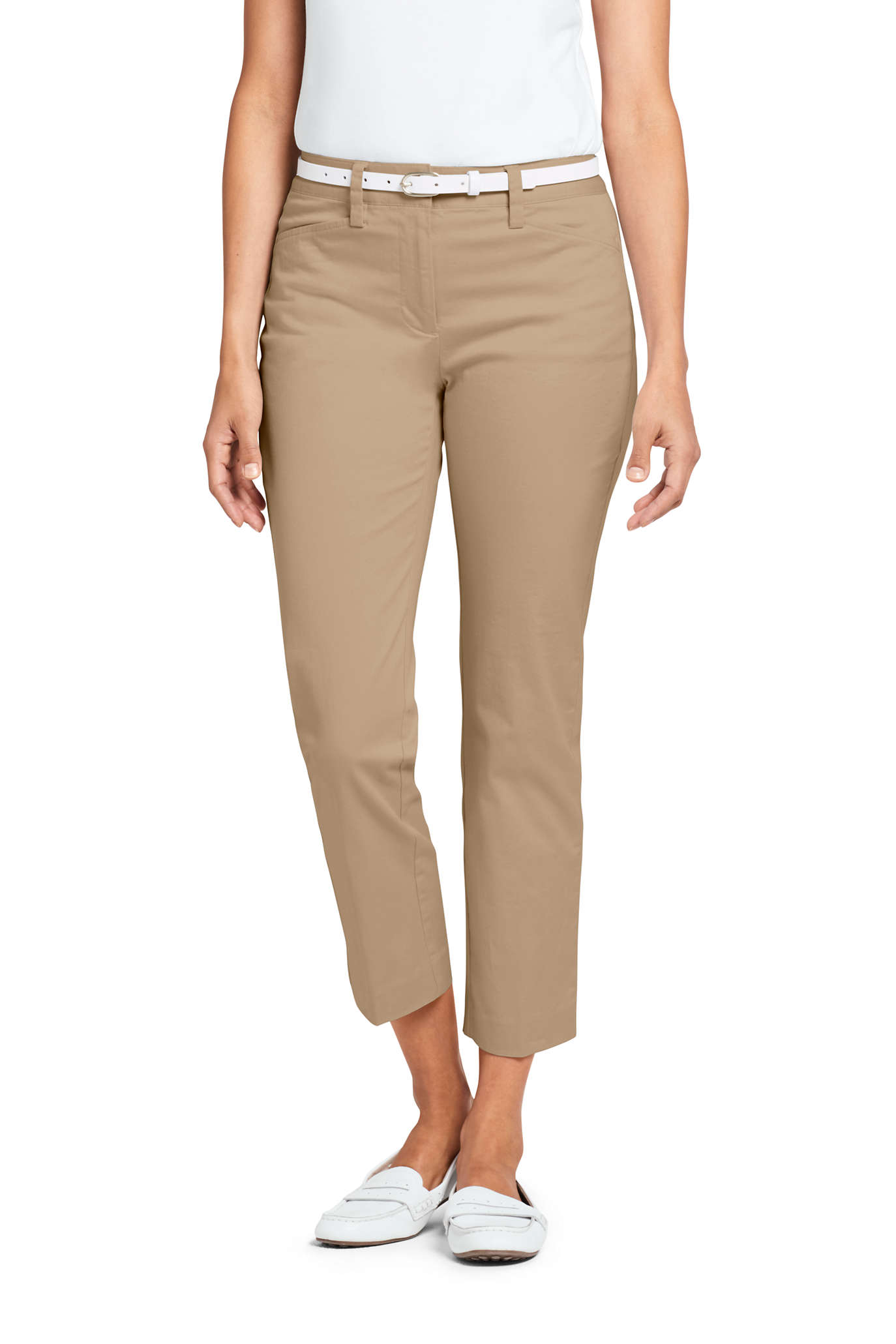 Women's Mid Rise Chino Crop Pant