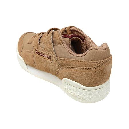 Reebok Men's Workout Plus Mu Dark Cypress / Sahara Chalk Ankle-High Leather Fashion Sneaker - 4M - image 1 of 4