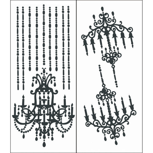 Blue Mountain Wallcoverings Chandelier Wall Decal