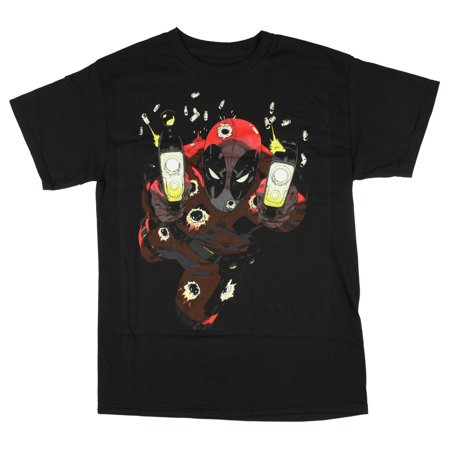 Deadpool T Shirts (Marvel Deadpool Shooting Glow-in-the-Dark Men's)