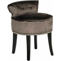 Safavieh Georgia Contemporary Glam Upholstered Vanity Stool