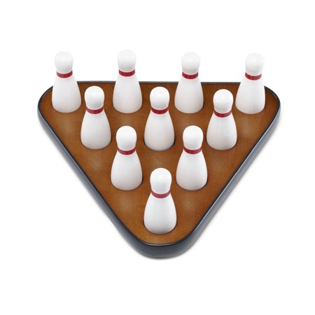 Playcraft Deluxe Pin Setter, Set of 10 Hardwood Bowling Pins, and Carry Bag - Bowling Pin Wood