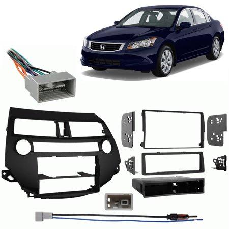Honda Accord Radio Harness - Fits Honda Accord 08-12 w/ Manual Climate Controls Harness Radio Dash Kit