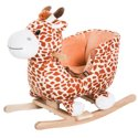 Qaba Kids Plush Rocking Horse-Style Giraffe Themed Ride-On Chair Toy