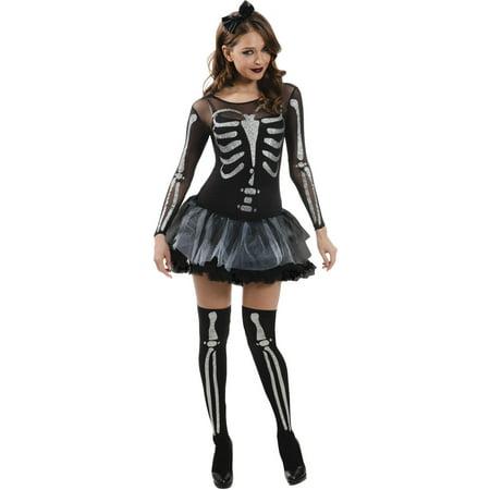 sassy skeleton adult halloween costume