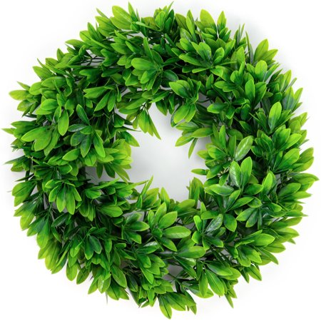 Artificial Green Leaves Wreath - 17