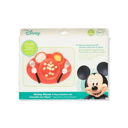 Disney Mickey Mouse 3-Piece Mealtime Set](Mickey Mouse Plate Set)