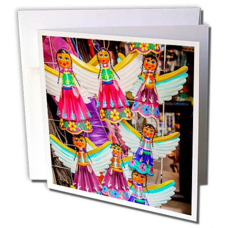 Souvenir Card Paper (3dRose Colorful Mexican Angel Souvenirs, San Miguel de Allende, Mexico - Greeting Cards, 6 by 6-inches, set of 12)
