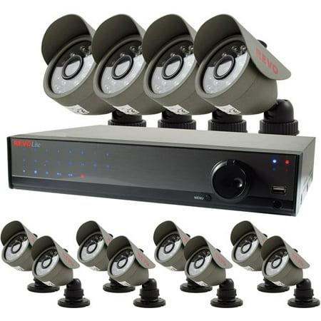 Revo Lite 16-Channel 1TB DVR Surveillance System with Twelve 450TVL Bullet Cameras