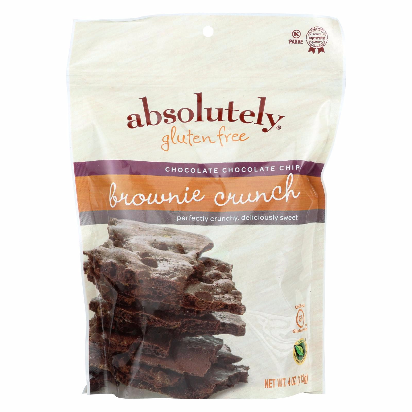 Absolutely Gluten Free Brownie Crunch - Chocolate Chip - Pack of 6 - 4 Oz.