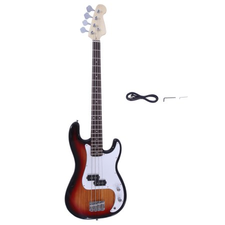 Zimtown Exquisite Burning Fire Style Electric Bass Guitar