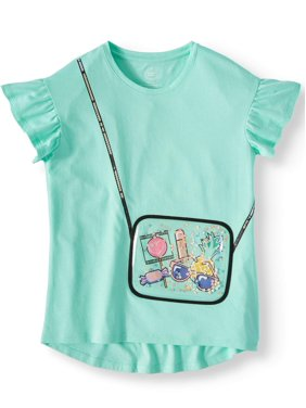 Wonder Nation 3D Embellished Graphic T-Shirt (Little Girls, Big Girls & Big Girls Plus)