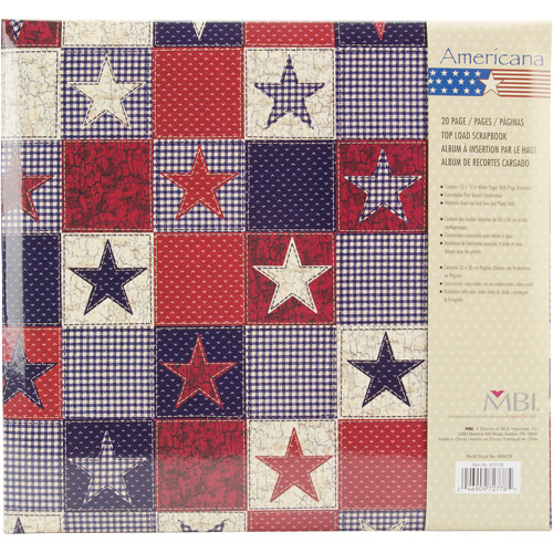 Mbi American Stars 12 Inch by 12 Inch Postbound Album Multi-Colored