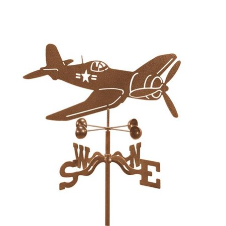 EZ Vane EZ1004-PT Corsair Airplane Weathervane with Post Mount - image 1 of 1