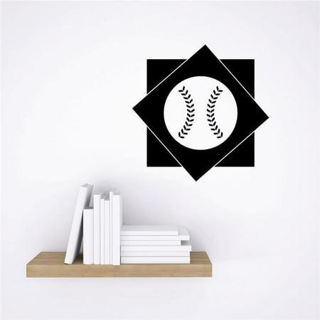 - Custom Wall Decal Vinyl Sticker : Baseball Diamond Sports Design Boys Kids Bedroom Design Decor Bedroom Bathroom Mural 16x16