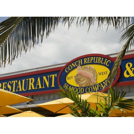Conch Republic Restaurant Beside the Marina, Key West, Florida, USA Print Wall Art By R H