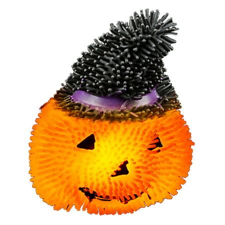 Light Up Squishy Halloween Pumpkin Stress Puffer Ball Release Squeeze - Halloween Stress Balls
