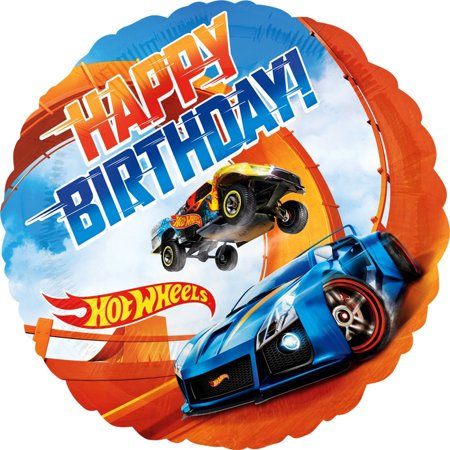 Hotwheels Birthday (Hot Wheels Happy Birthday Foil Balloon 18