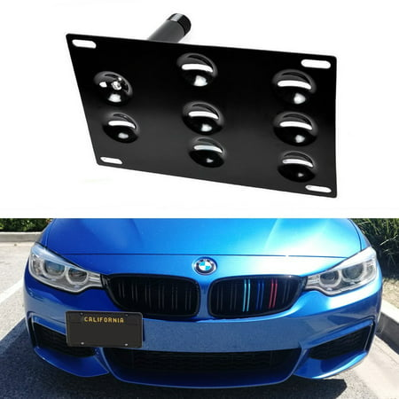 iJDMTOY Euro Style Front Bumper Tow Hole Adapter License Plate Mounting Bracket For BMW F30 F31 F32 F34 F10 G30 G31 3 4 5 Series E84 X1, - Bumper Adapter