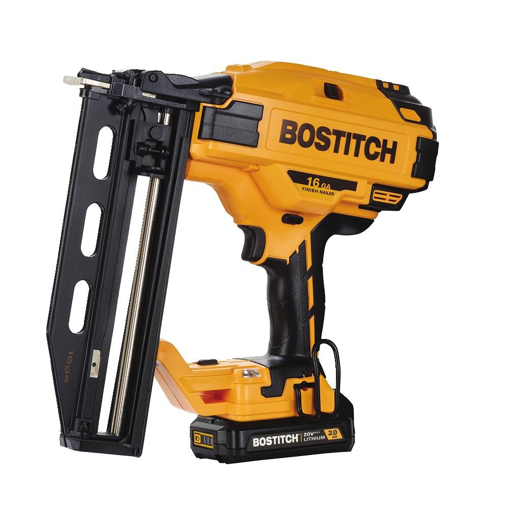 BOSTITCH BCN662D1 20V MAX 2.0 Ah Lithium-Ion 16 Gauge Cordless Straight Finish Nailer (New Open Box) by Bostitch