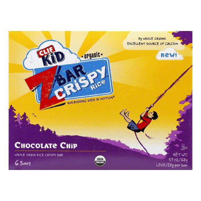 CLIF Chocolate Chip Crispy Rice Z Bar, 7.62 Oz (Pack of 6)