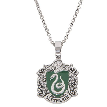 Silver Plated Slytherin House Crest Pendant, 16+2