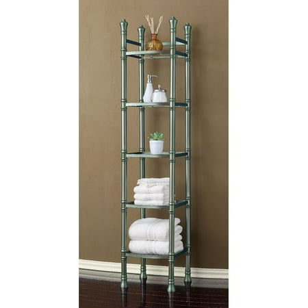 Best Living, Inc. Monaco Tall Etagere 5-Tier Tower, Brushed