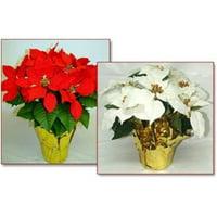Creative Displays 1676-R 6 in.  pot Red Silk Poinsettias; MIN 12