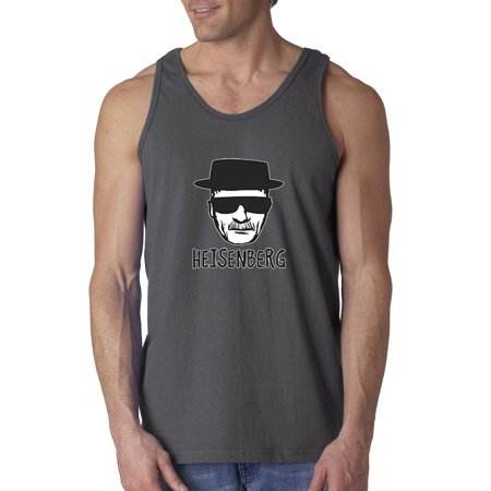 Trendy USA 352 - Men's Tank-Top Heisenberg Walter White Face Breaking Bad Large Charcoal (Breaking Bad Women Tshirt)