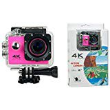 Pink WIFI Action 4K 30fps Sports Action Camera Ultra HD Waterproof DV Camcorder 16MP 170 Degree Wide Angle