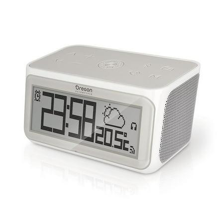 Oregon Scientific CIR100 Smart Weather Clock with Internet Radio - WiFi and Bluetooth - Multi-zone Connected CIR-100 (Halloween Sounds Internet Radio)