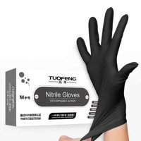 Deals on 100-Pieces Small Size Black Gloves